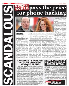 News of the World pays the price for phone hacking